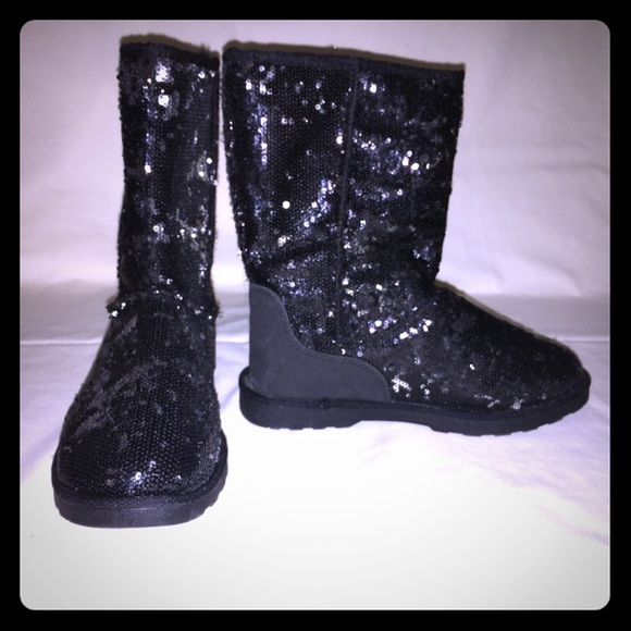 Sequin Ugg Style Kids Boot Girls Size